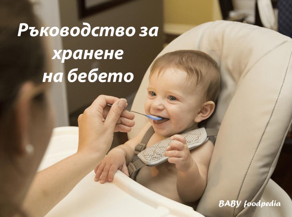 Ръководство за хранене на бебето до 12 месец