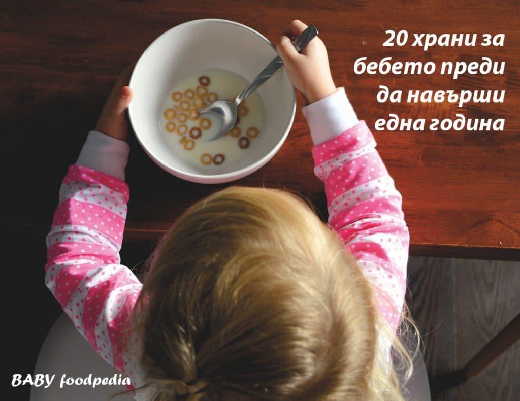 20 храни за бебето