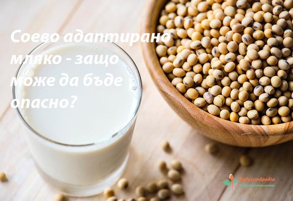 Соево адаптирано мляко - защо може да бъде опасно?